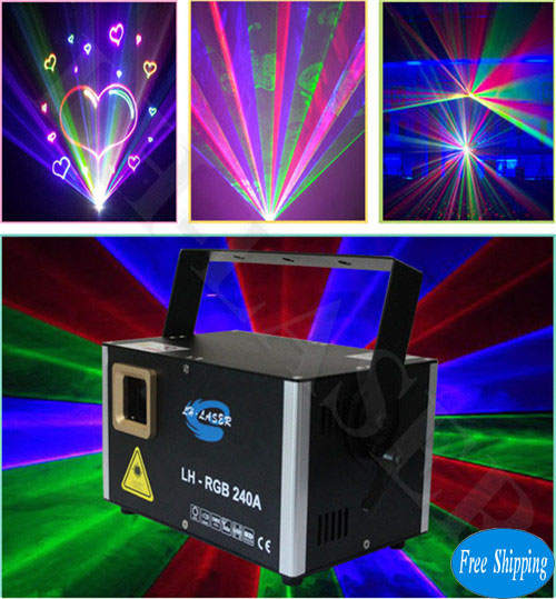 Free Shipping 2W Network Interface RGB Laser