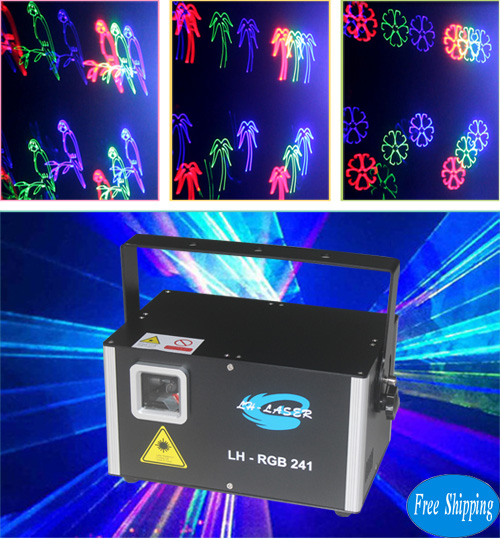 Free Shipping 2W RGB Fireworks animation laser light 30k