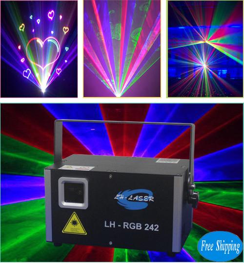 Free Shipping 2000mW Analgo Modulation RGB Laser