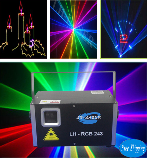 Free Shipping 2W Club  RGB Animation Laser Projector
