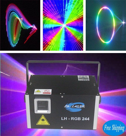 Free Shipping 2500mW ILDA and dmx 512 analog rgb