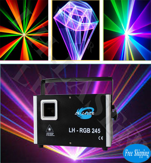 logo projector laser light 2.5W RGB