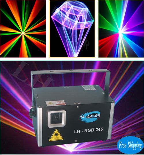 Free Shipping logo projector laser light 2.5W RGB