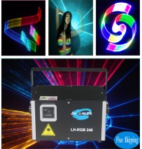 Free Shipping 2.5W 2D/3D SD Card Disco Laser Light Show Projector