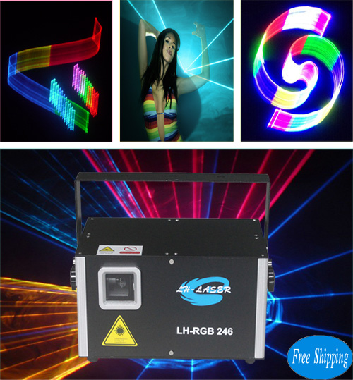Free Shipping 2.5W 2D/3D disco laser light show