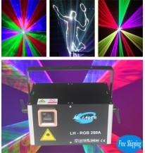 Free Shipping 3W Analog Modulation RGB Animation SD Card Laser