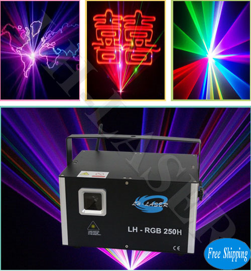Free Shipping 3500mw full color laser light for outdoor