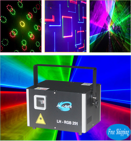 Free Shipping 3000MW RGB animation Cartoon laser