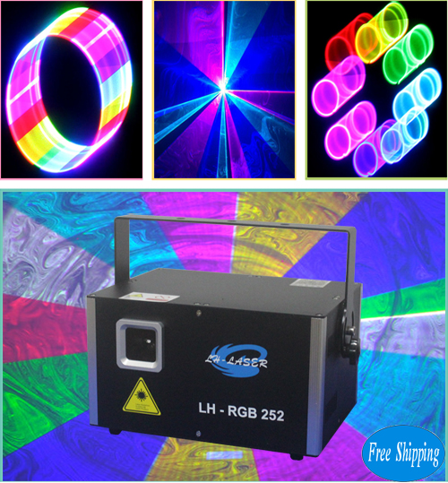 Free Shipping PC Controlled 3000mW 2d/3d rgb ILDA Laser