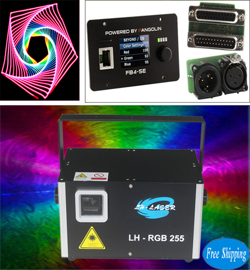 Free Shipping 3W RGB Analog animations FB4 laser light projector