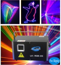 Free Shipping 3W RGB Laser With 45Kpps Analog Lighting