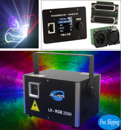 Free Shipping 3.5W Analog FB4 DMX RGB Outdoor Christmas Laser