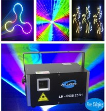 Free Shipping 3500mw Analog RGB for outdoor christmas disco laser