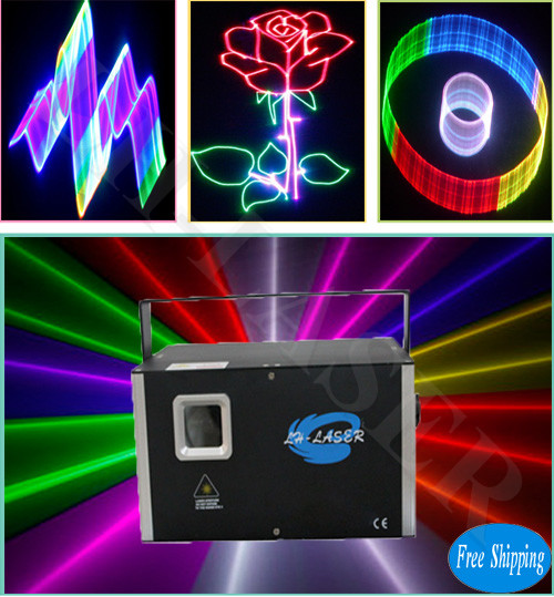 Free Shipping 3.5 watt rgb Laser Projector for Christmas
