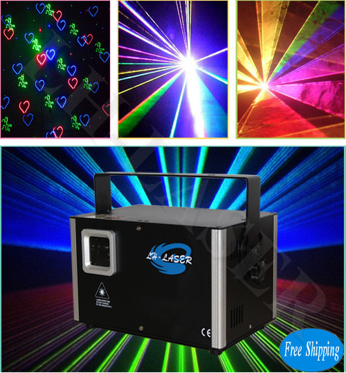 Free Shipping 3.5W Automatic Voice Moving Laser Projector