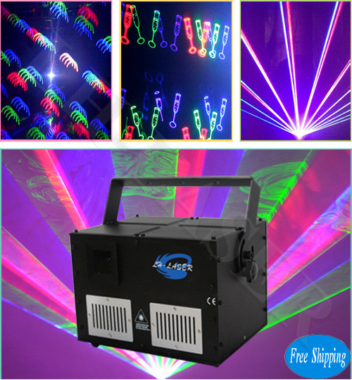 Free Shipping 4W SD Card stage lighting fireworks laser