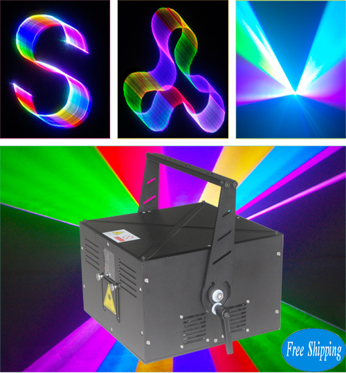 Free Shipping 4W RGB 3D outdoor laser lighting