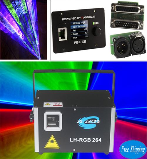 Free Shipping 4W ILDA DMX FB4 Analog RGB animations Laser