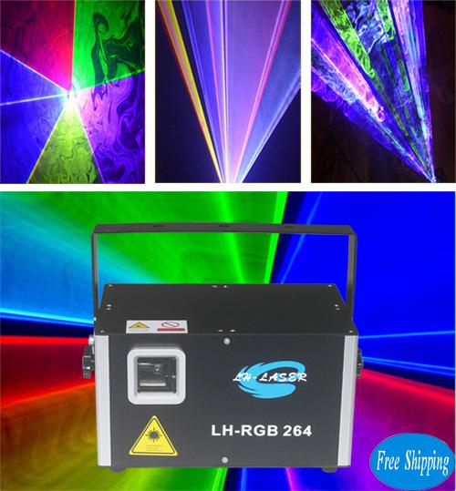 Free Shipping ILDA+DMX512 4000mw RGB animation laser
