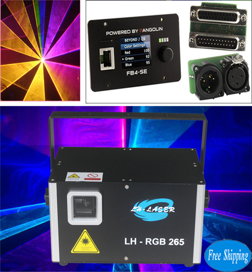 Free Shipping ILDA 4.5W Analgo Modulation FB4 RGB Disco Laser