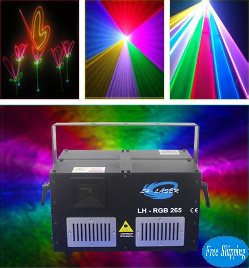 Free Shipping ILDA 45K galvo MINI 4.5W RGB Laser
