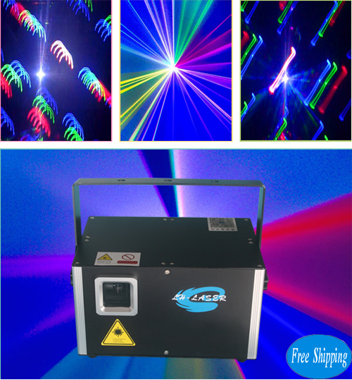 Free Shipping 4.5w ILDA+SD Card Laser Disco Light