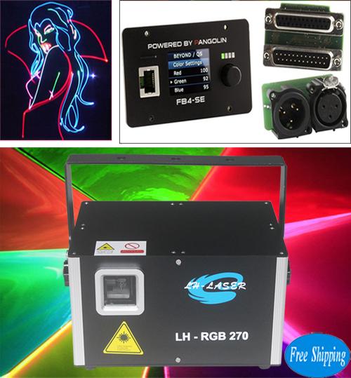 Free Shipping 5W DMX512 FB4 Christmas RGB Laser Disco