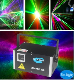 Free Shipping Mini Analog Modulation 5W rgb laser with SD Card