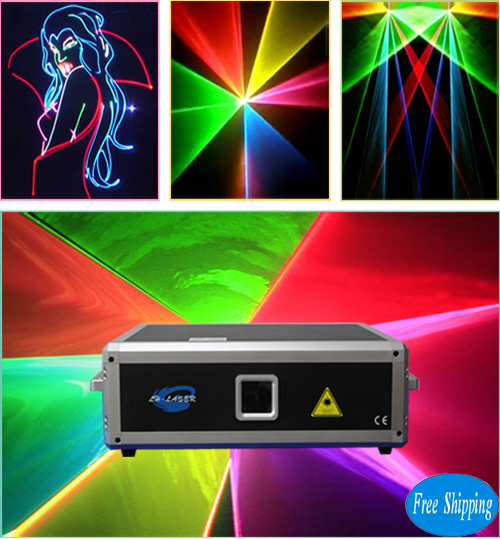 Free Shipping Big 5W Full Color Laser Show Lights