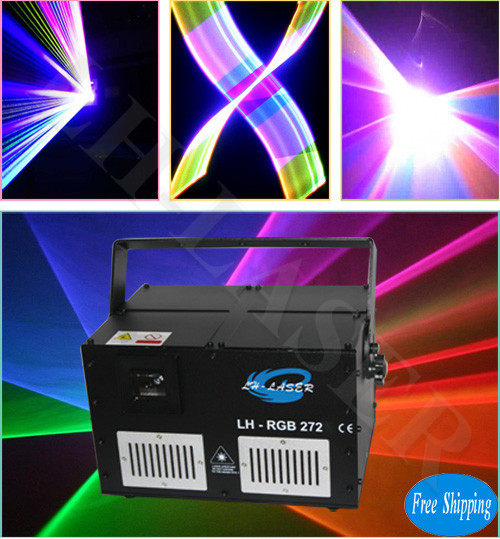 Free Shipping 5W Full Color Stage ILDA RGB Animation Laser