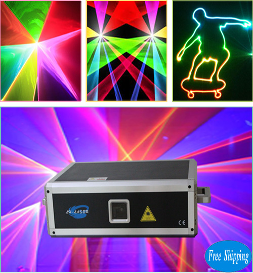 Free Shipping Big laser power 5000mw RGB animations Laser