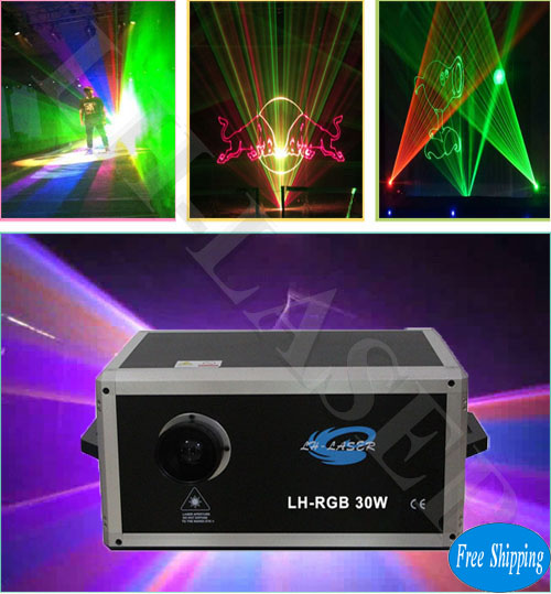 30W Wide Angle Lens Laser Light