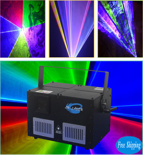 Free Shipping 8W Mini New RGB Laser Light