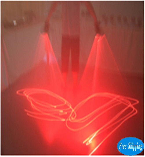 Free Shipping Red Laser Glove For Dancer