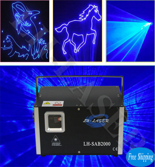 2000MW Single Blue Animation Laser