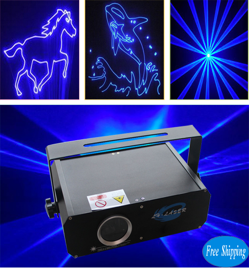 Free Shipping 2000MW Single Blue Animation Laser