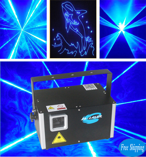 Free Shipping 3000mW Blue Color SD Card Laser