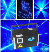 Free Shipping ILDA 3000mW Blue Laser With SD Card