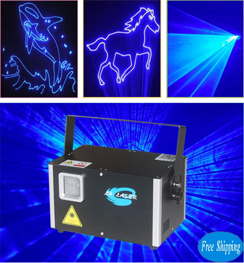 Free Shipping 4000mW Single Blue Color With SD Card