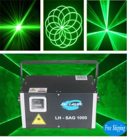 Free Shipping 1W  30Kpps SD Card display green animation Laser