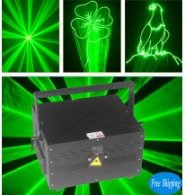 Free Shipping 10W SD Card Outdoor Green Animation Laser
