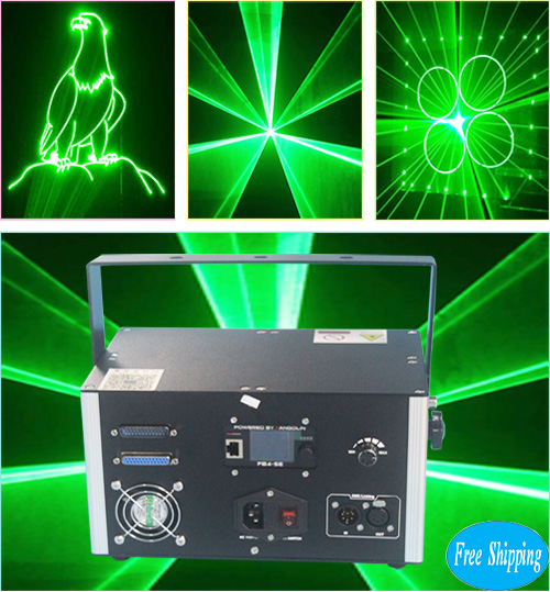 Free Shipping ILDA Green Laser With FB4 Pangolin Quickshow