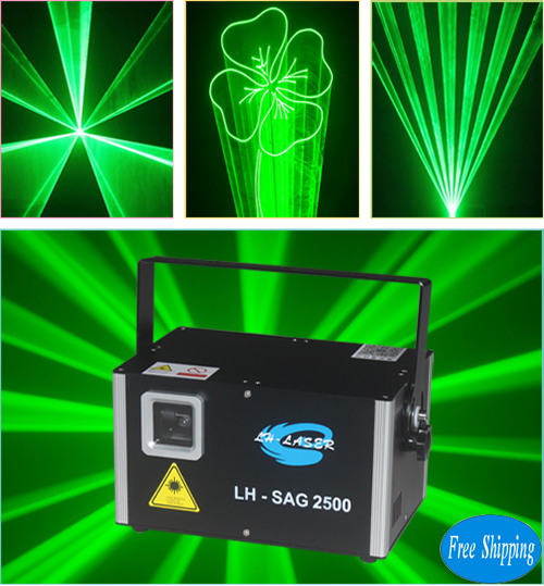 2500MW Single Green Disco Laser