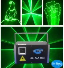 Free Shipping 3W Green Animation Laser Disco Light