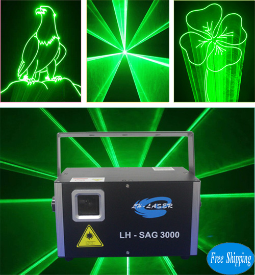 3W Green Animation Laser Disco Light