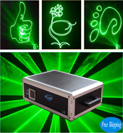 Free Shipping 4w green laser system light for outdoor