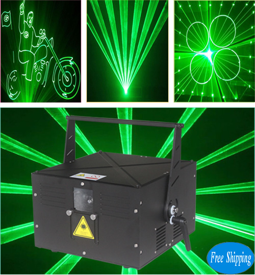 Free Shipping 4W Single Green Animation Laser