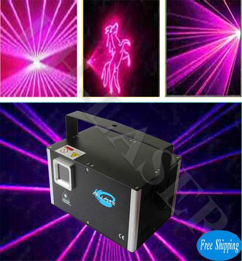 Free Shipping DMX+ILDA 1W Rose Programable Laser