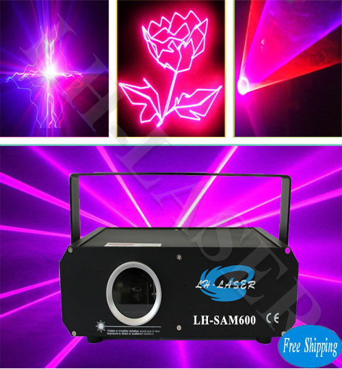 Free Shipping ILDA+SD Card 600mW Pink Color Disco Laser
