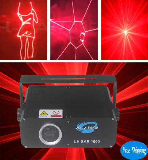 Free Shipping 1000mW 25 pins ILDA Red Color SD Card Laser